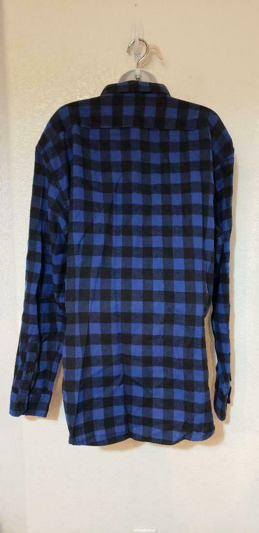 Emiqude button flannel Shirt, XXL