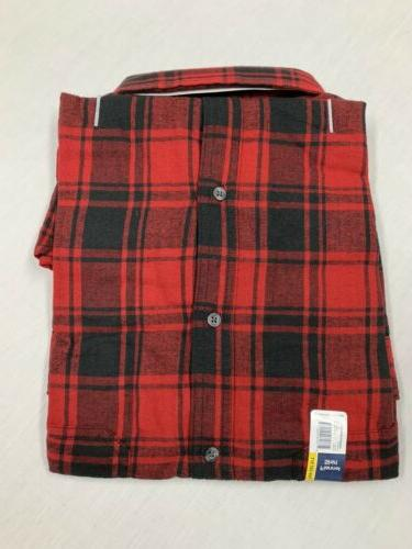 GEORGE Flannel Button Down Size