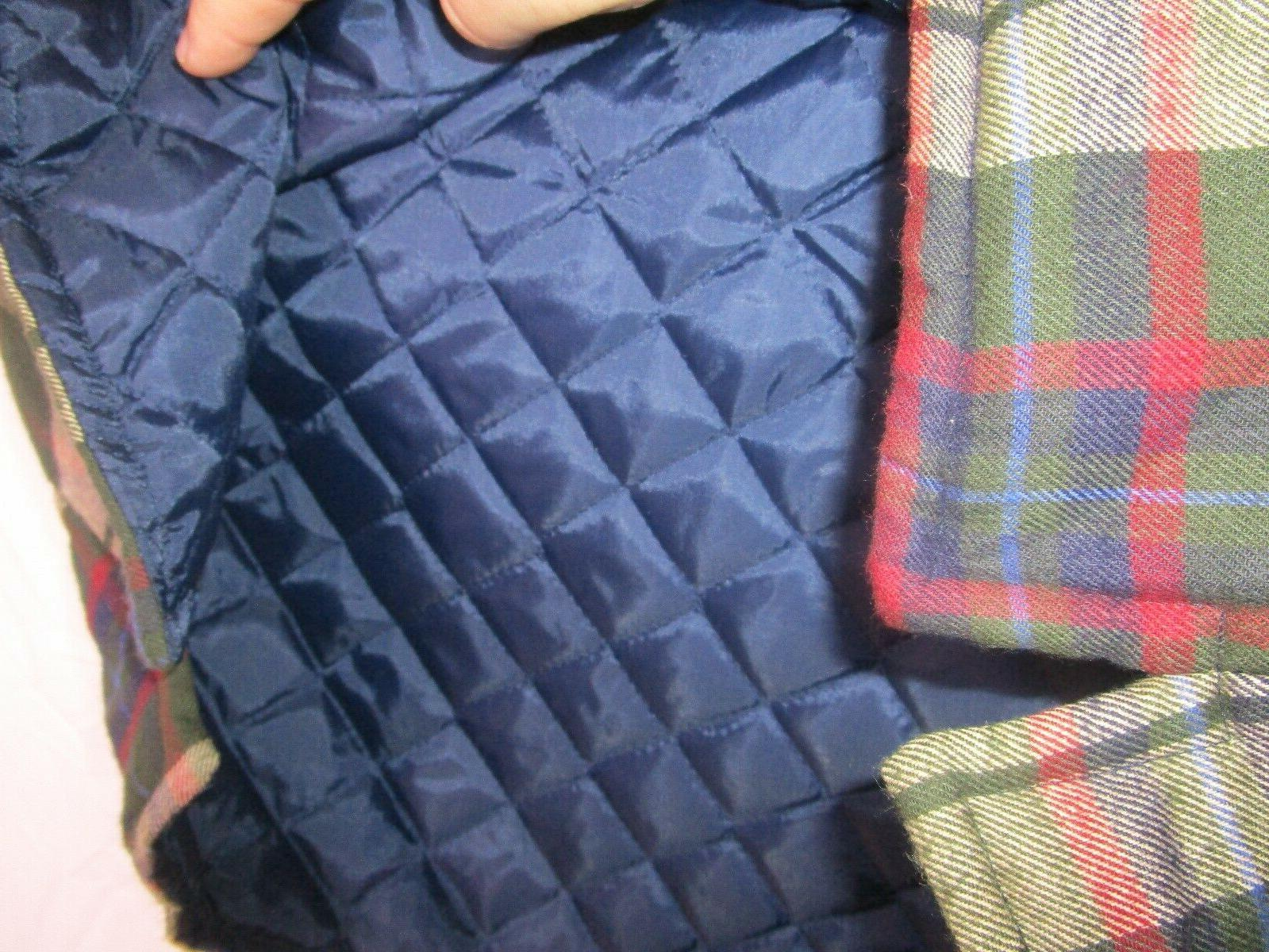 Towncraft Plaid Flannel Quilt Lined Shirt Mens