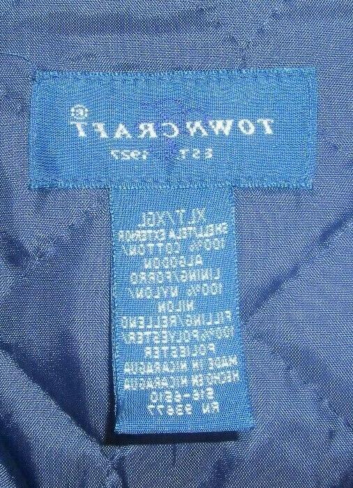 Towncraft Plaid Lined Work Mens Sz Tall
