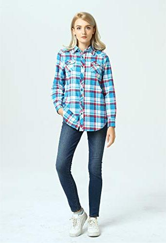 Lilicherry Plaid Flannel Women Flannel