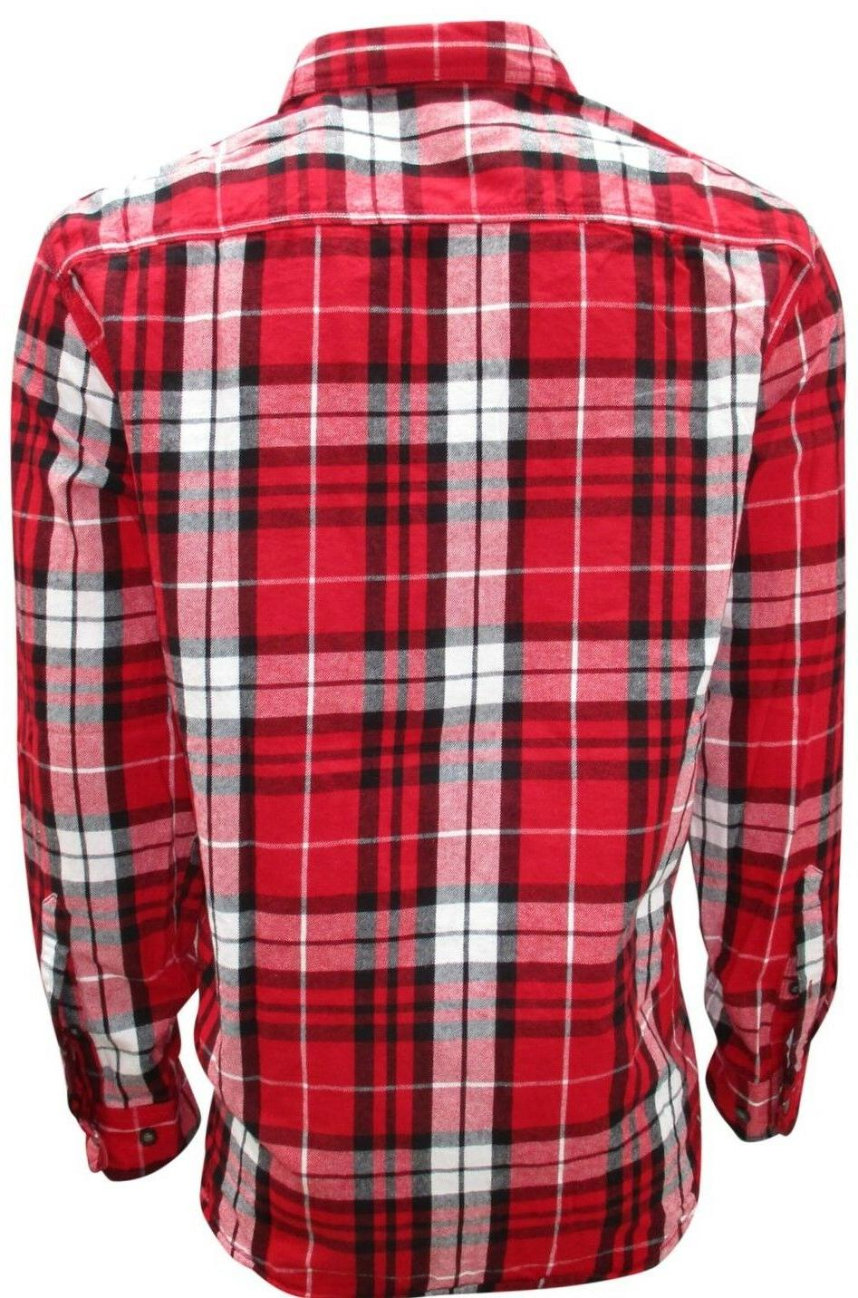 Plaid, for Men, Sleeve Down to 3XL