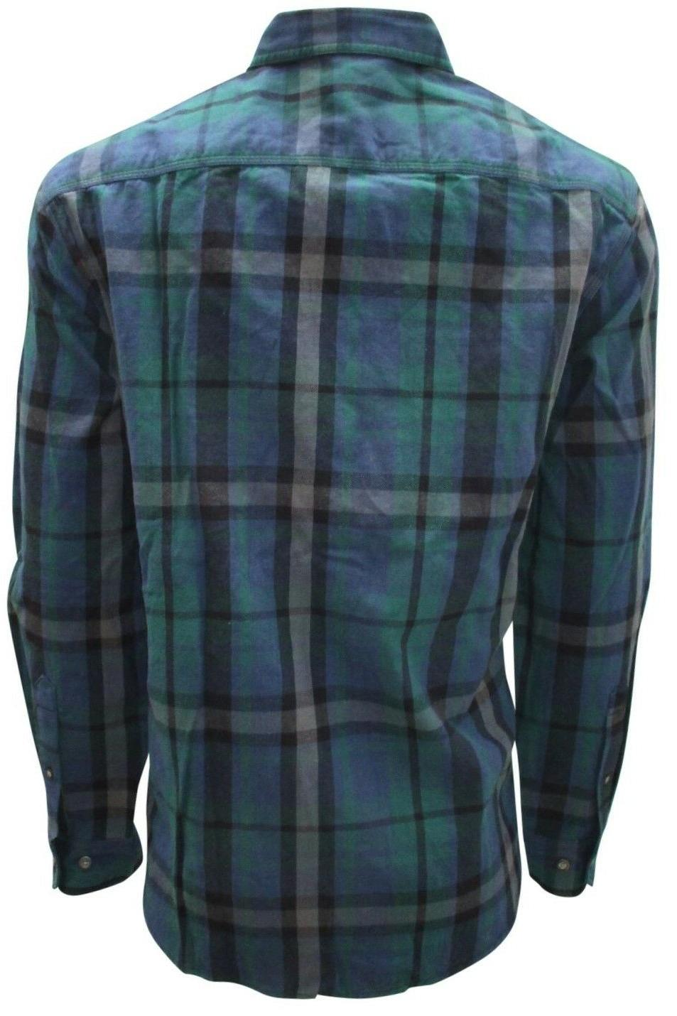 Plaid, Flannel Shirts Men, Long Button Down Size to 3XL