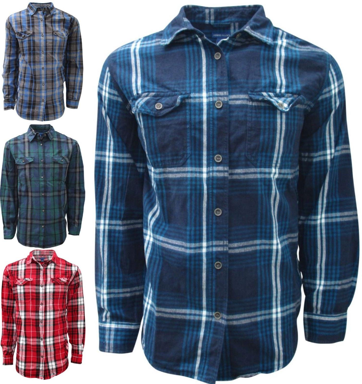plaid flannel shirts for men long sleeve