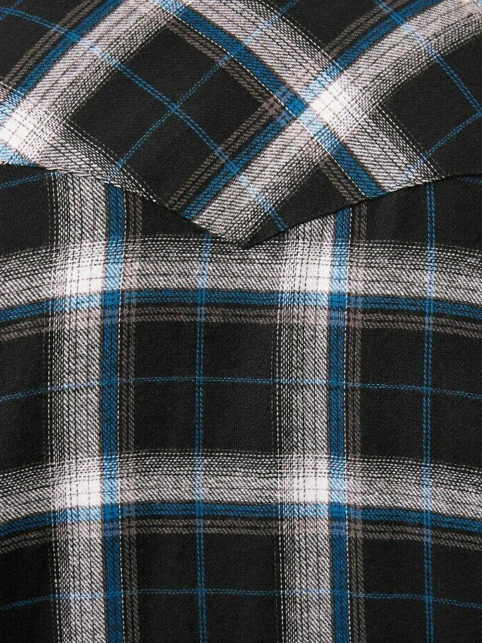 Plains Western Big Long Sleeve Flannel Black - 4XL