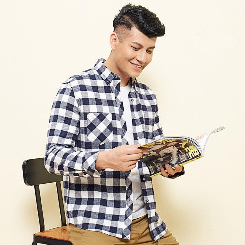 Plus 7XL 6XL 5XL Men's 100% Korean Fit Comfortable Men Blouse Work Clothes