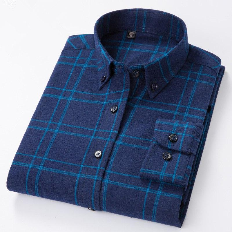 Plus Big 7XL 5XL Men's <font><b>Shirt</b></font> Fabric 100% Fit Comfortable Brand Blouse