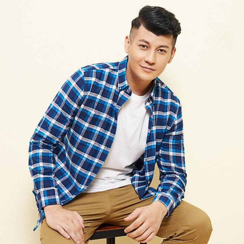 Plus Size 7XL Men's 100% Cotton Korean Blouse Work