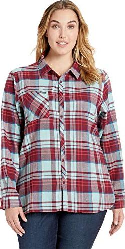 Columbia Women's Plus Size Simply Put¿ II Flannel Shirt Ric