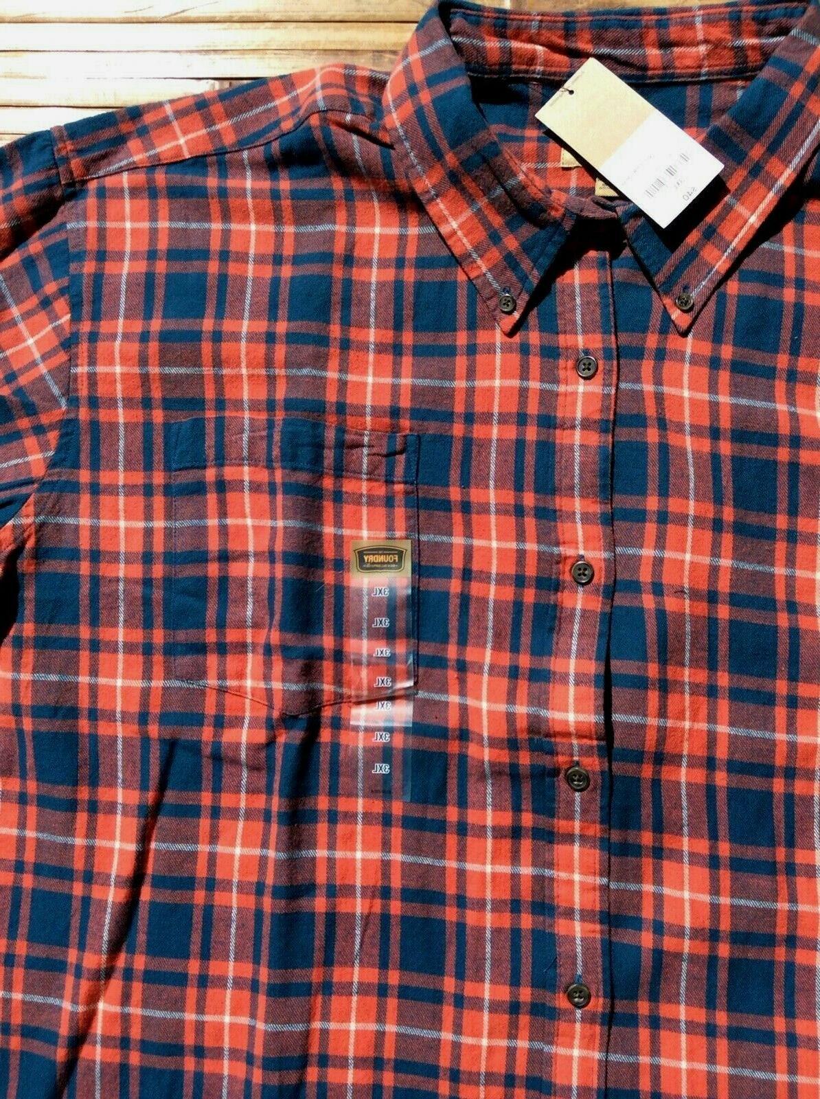 Foundry Size Tall Mens Shirt 3XL 3XLT