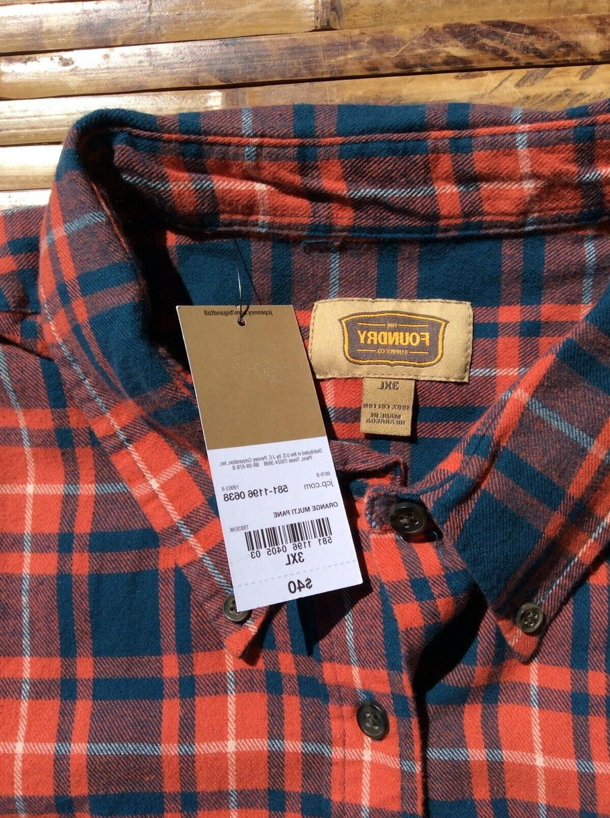 Foundry Tall Mens Flannel Shirt
