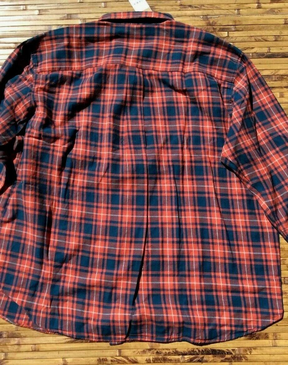 Foundry Tall Mens Plaid Flannel Shirt 3XLT