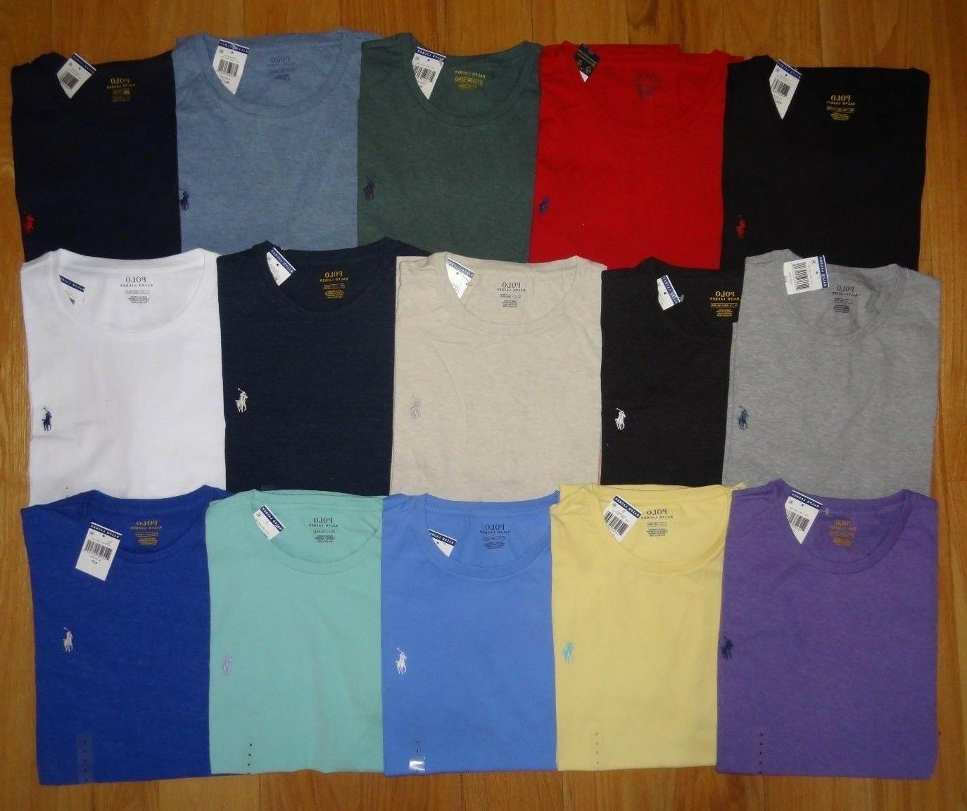 Polo Ralph Lauren Mens T Shirt Brand With CREWNECK Tee S L XXL