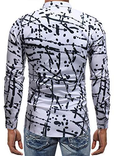 XTAPAN Men Dress Shirt-Slim Fit Button Down Asian 3XL 7311
