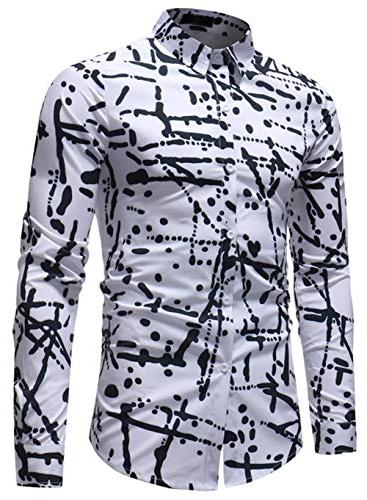 XTAPAN Shirt-Slim Button Down Asian 7311