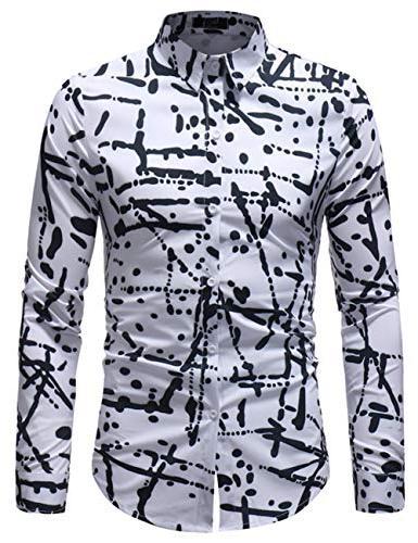 printed dress shirt slim fit