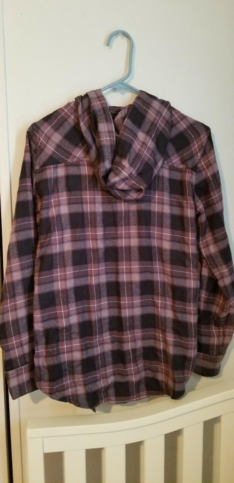 Purple Flannel Down Shirt Plaid