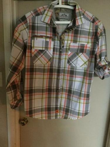 realtree sz xl buck plaid flannel shirt