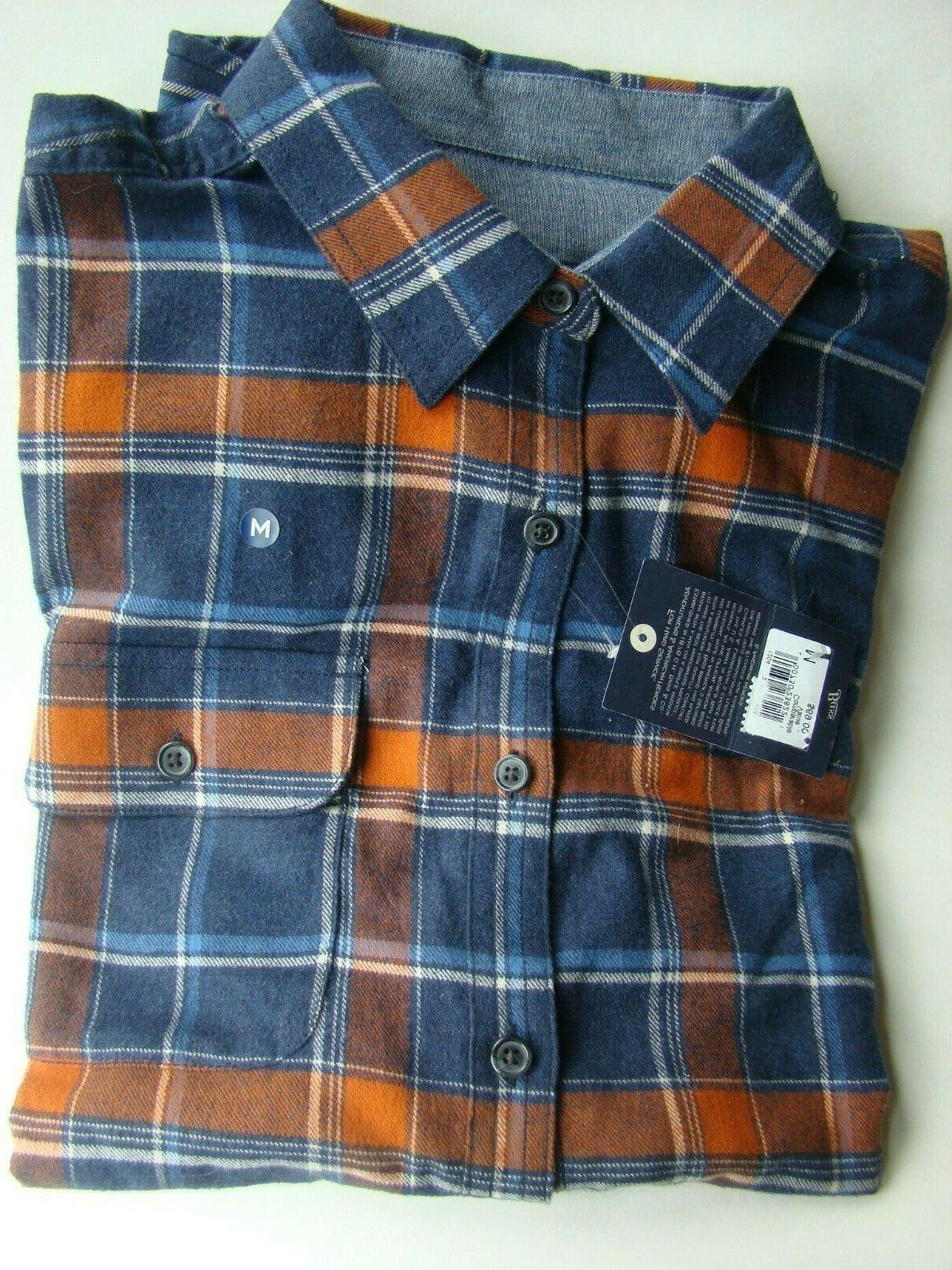 REDUCED!!! G H Flannel Shirt Plaid M & Rust