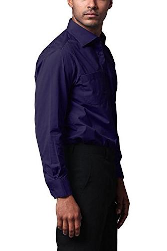 G-Style Men's Regular Fit Sleeve Convertible Cuff - Purple