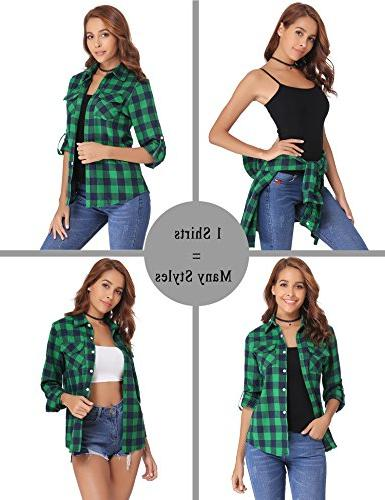 Abollria Long Down Plaid (Green,S