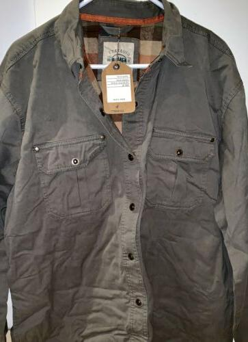 s brushed twill rugged shirt jacket