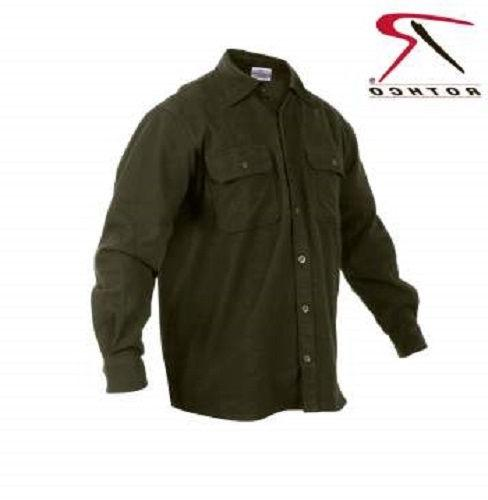 Rothco's Buffalo Heavyweight Solid Black or Green Shirt