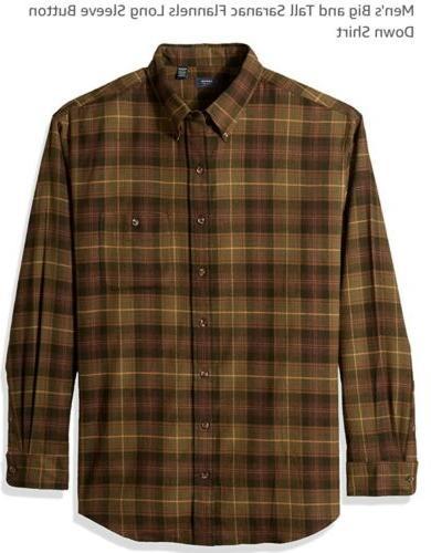 saranac flannel button down shirt big