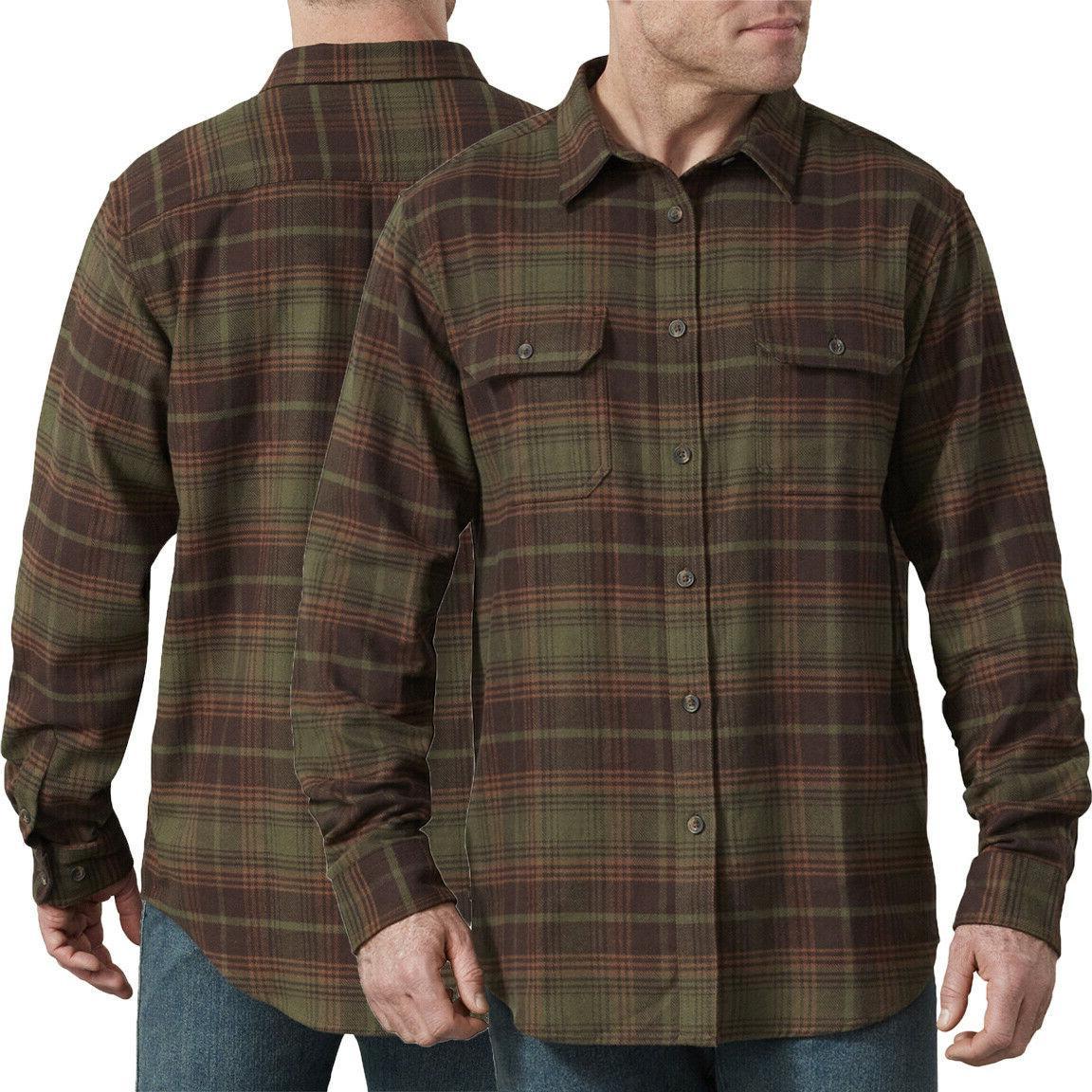 shirt mens heavyweight long sleeve flannel shirt