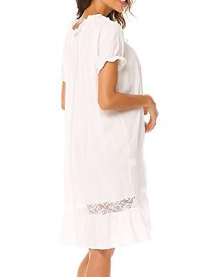 Ekouaer Short Nightgown Women