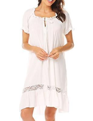 Ekouaer Cotton Nightgown Women