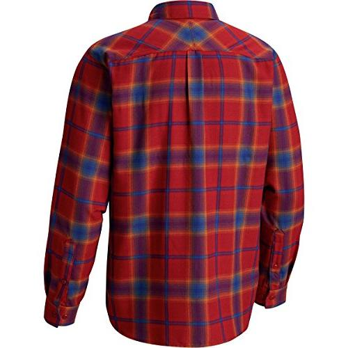 Columbia Flannel Long Red