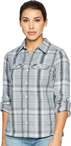 silver ridge long sleeve flannel large cirrus