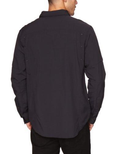 Columbia Silver Ridge Long Shirt, Black, Medium