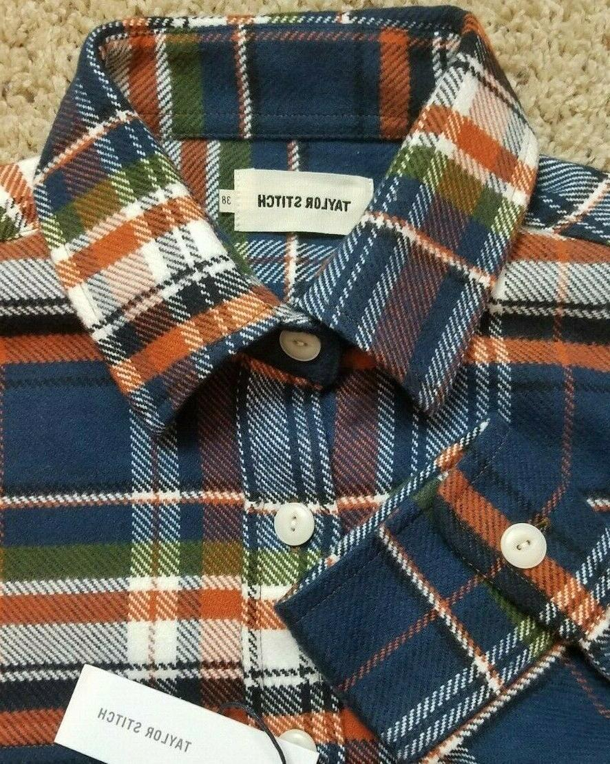 size 38 the crater flannel shirt navy