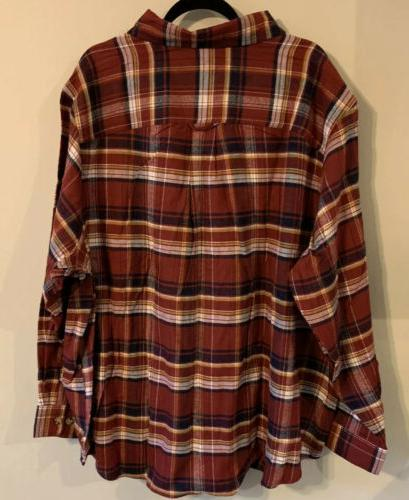 Red Plaid 3X Tall Button