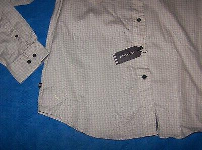 Size XL Front Nautica Long Sleeve Cotton Gray