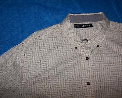 Size Front Shirt Long Sleeve Cotton Gray
