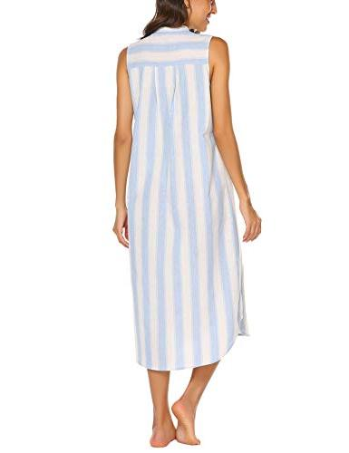 Ekouaer Sleepwear Sleeveless Shirt