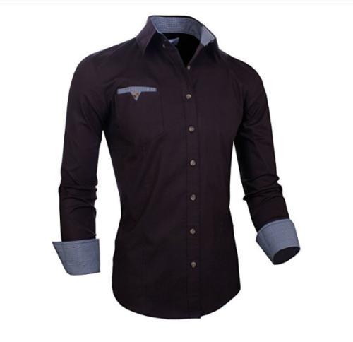 Stylish Mens Fit Cotton Long Button