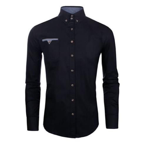 mens long sleeve fit cotton slim flannel