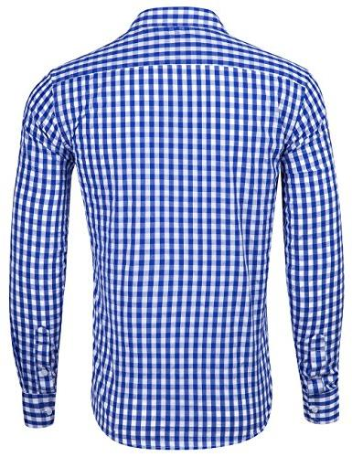 XI Men's Fit Plaid Gingham Long