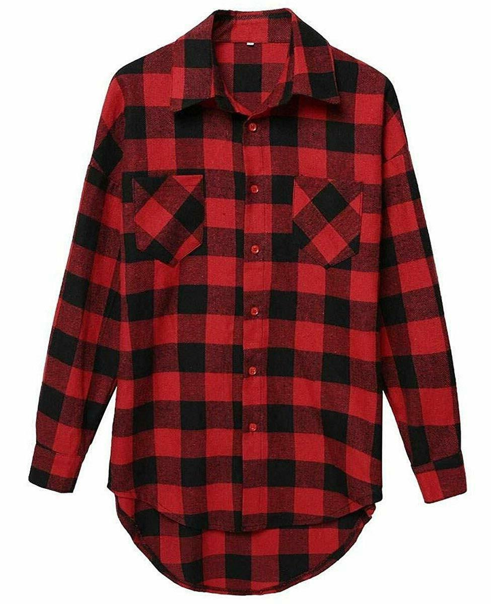 Long Sleeve Flannel Blouse