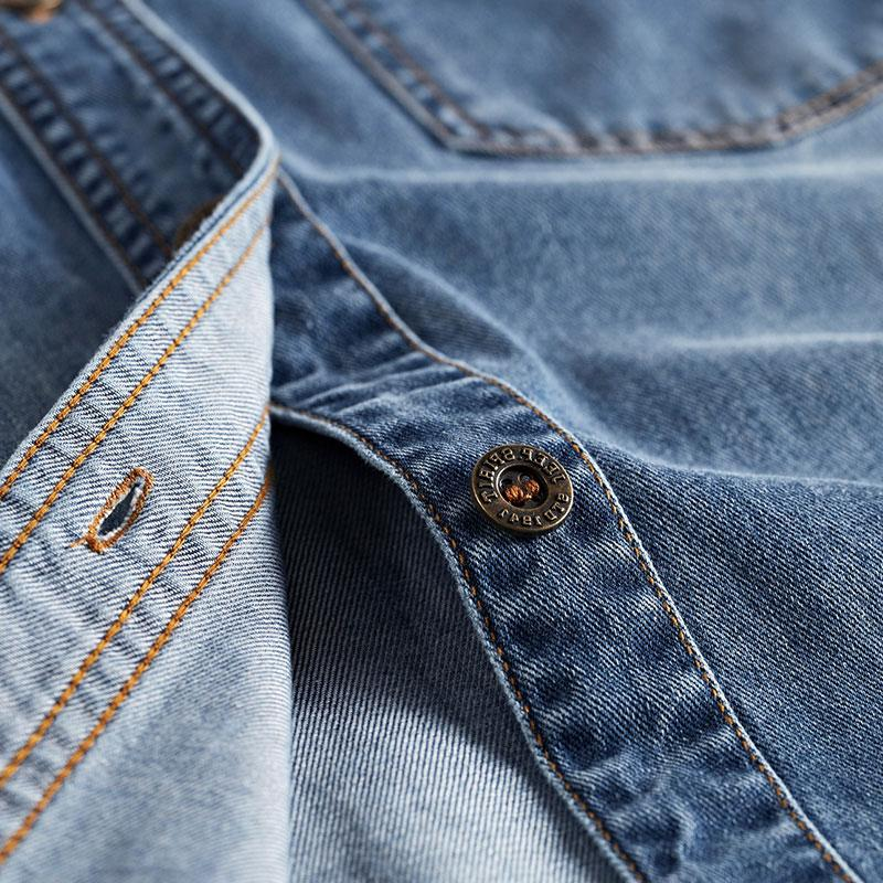 Spring 100% Blue <font><b>Shirts</b></font> Long Sleeves Men All <font><b>Match</b></font> Collar Men <font><b>Shirts</b></font> New