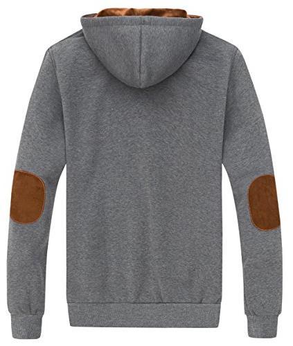 Wantdo Men's Hoodies Causal Hooded Grey, XL