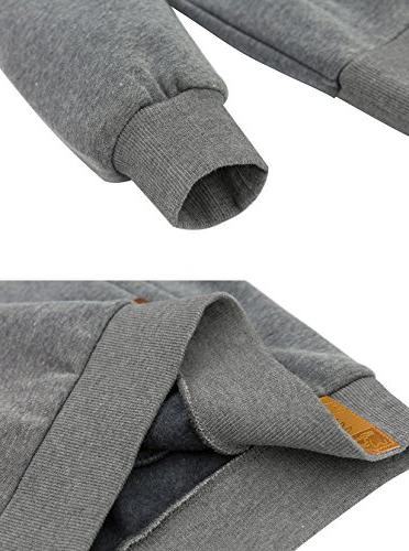 Wantdo Men's Hoodies Shirts Comfortable Hooded Grey, XL