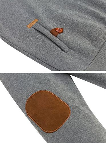 Wantdo Men's Pullover Hoodies Hooded Grey,