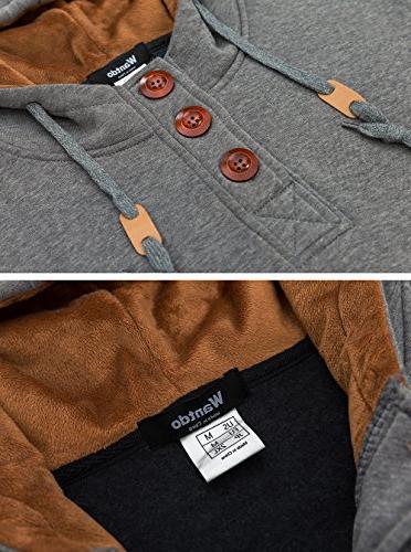 Wantdo Hoodies Shirts Comfortable Hooded Jacket,