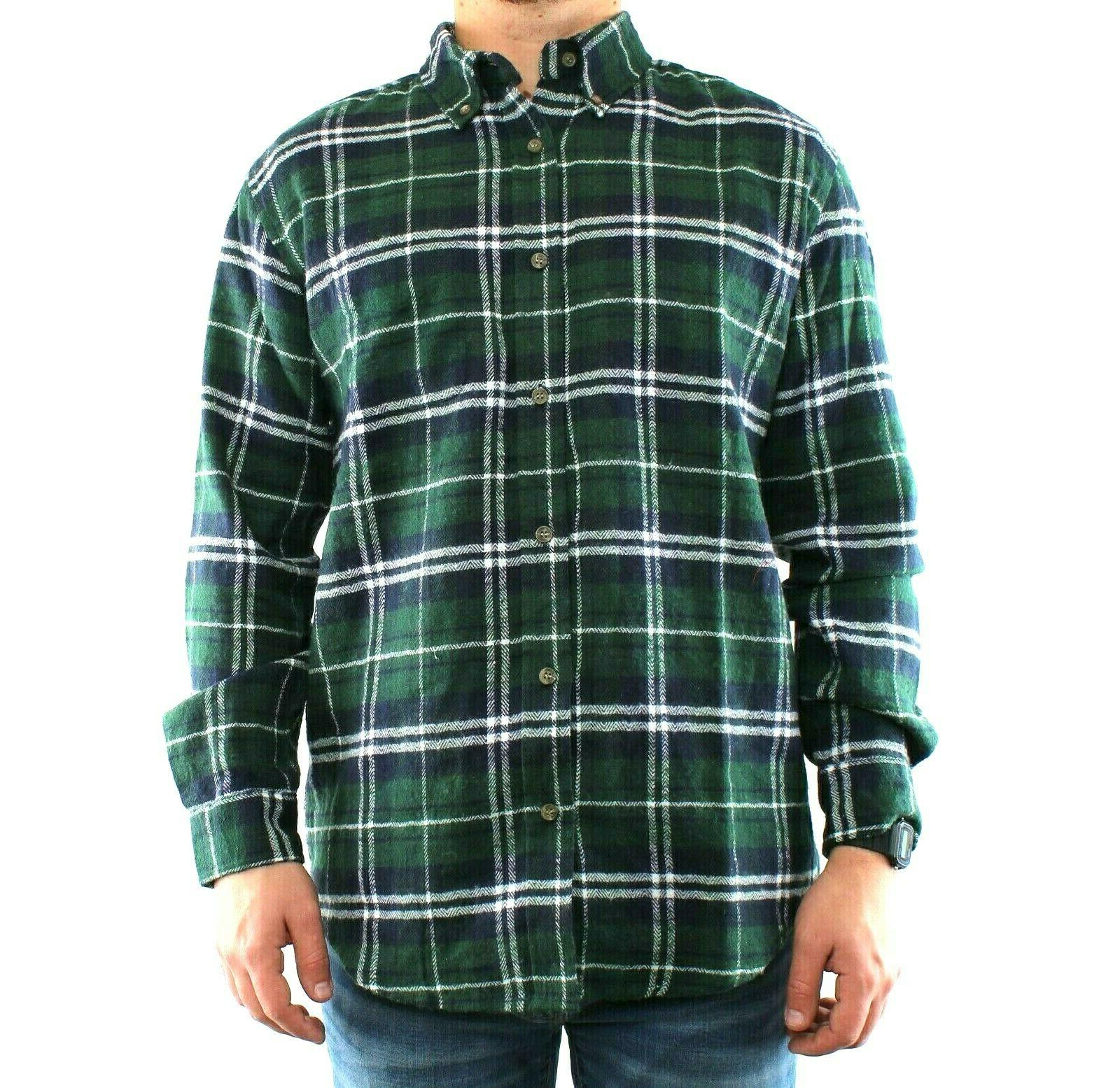 St. Shirt Men's Plaid Sleeve Down