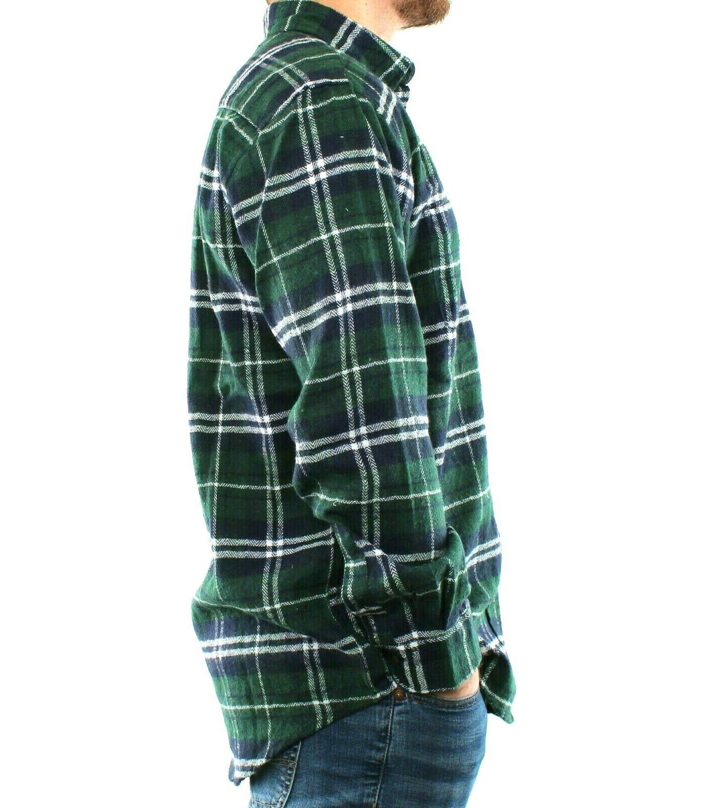 St. Bay Flannel Shirt Men's Sleeve Casual Top